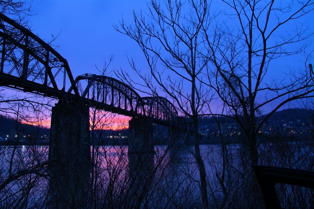 Sunset by the Bridge by Robert Cramer