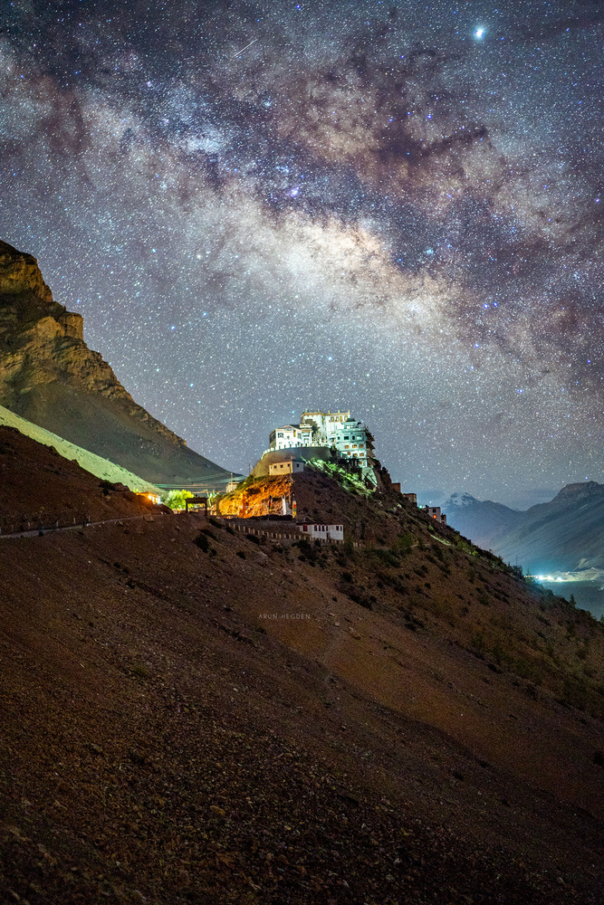 Star Lit KEY Monastery by Arun Hegden