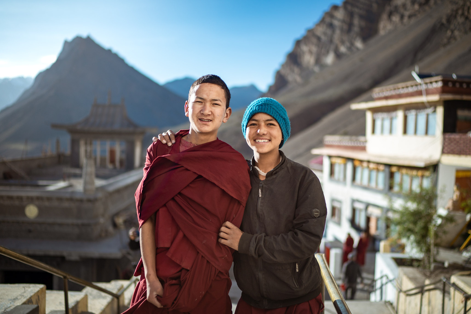 Young Monks at Key Monastery by Arun Hegden