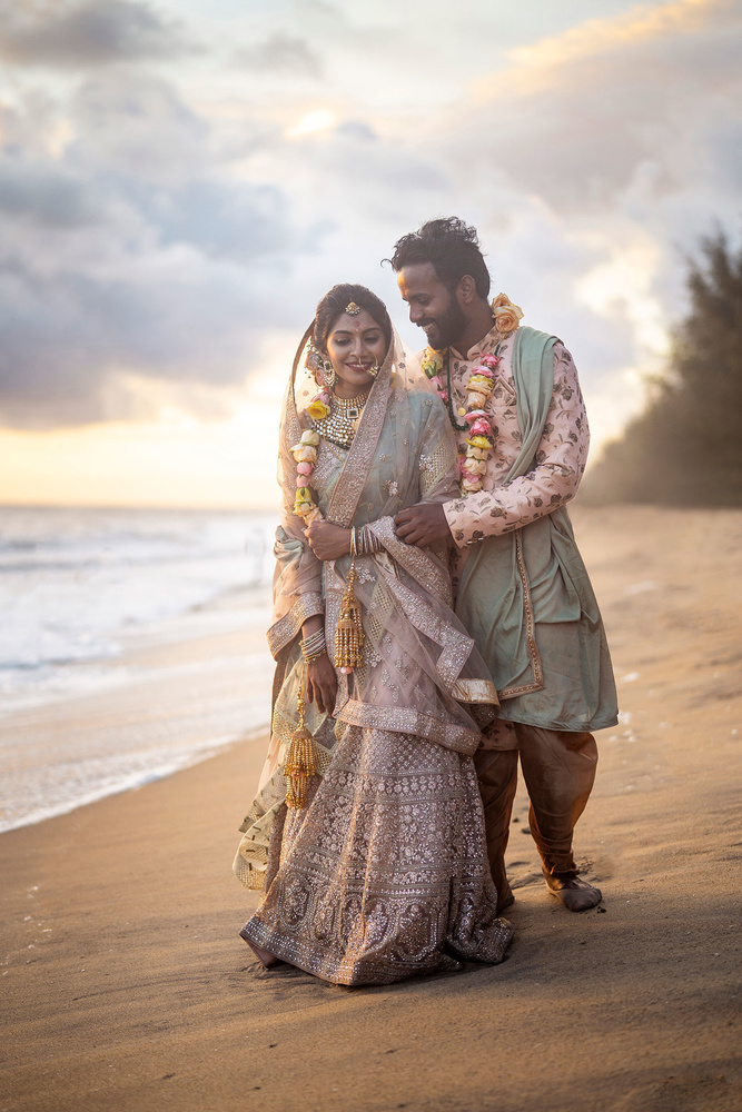 Jidhu + Anjuna Beach Wedding by Arun Hegden