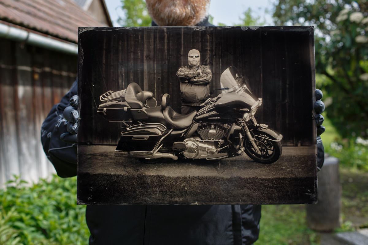 Harley wet plate by Markus Hofstätter