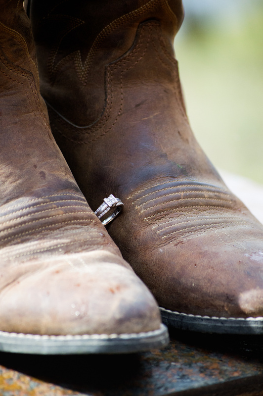 Ring + Cowgirl Boots Engagement by Christina Dulik