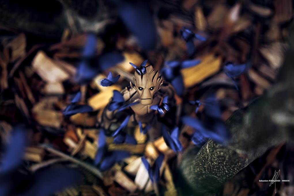 Groot in wonderland by Sébastien Roulland
