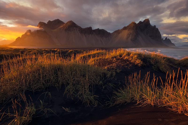 Sunset at Vestrahorn by Ken Koskela