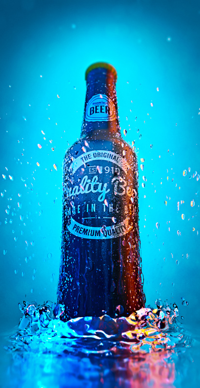 Beer. Because fish make love in water... by Roland Tomlinson