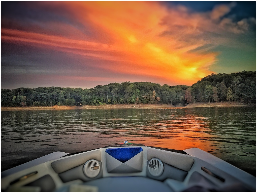 Sunset on the lake by Dustin Allison
