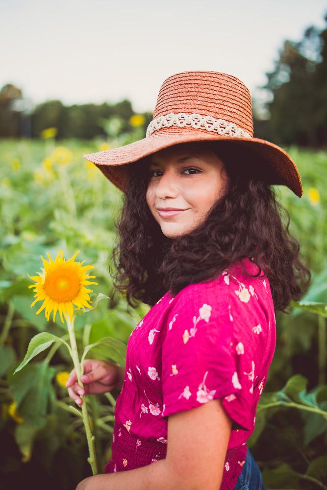 Sunflower Senior Portrait by Chris Delisle
