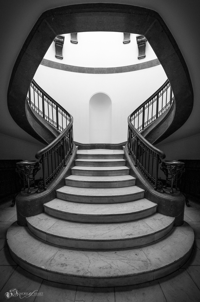 Stairway to the Gallery by Jason Hart