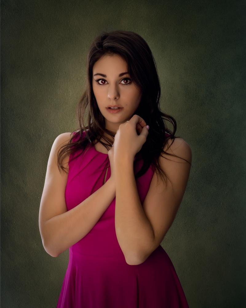 Erica Lynn's portrait by Enrique Olivieri
