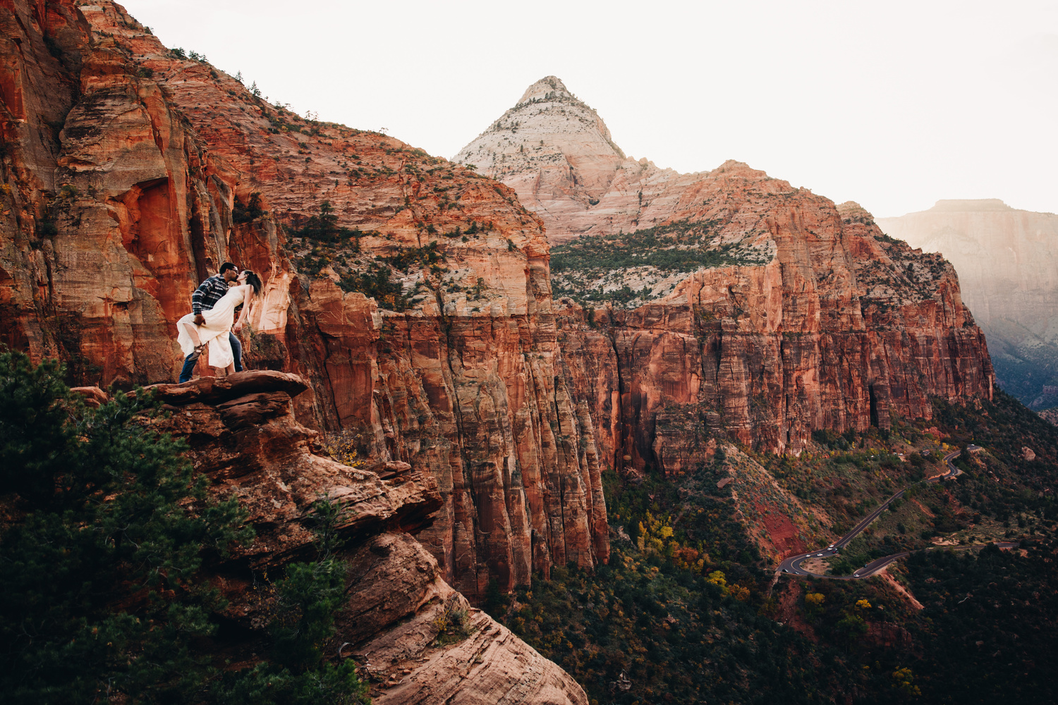 Zion Canyon Overlook by Luca Cometti