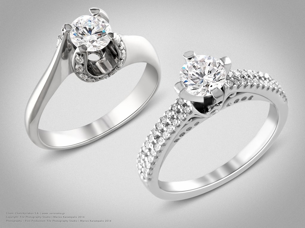 White gold diamond rings by Marios Karampalis