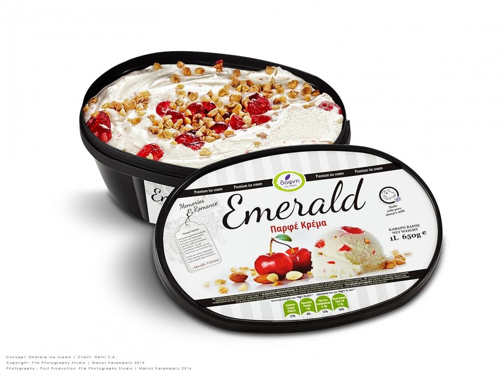Ice cream packaging by Marios Karampalis