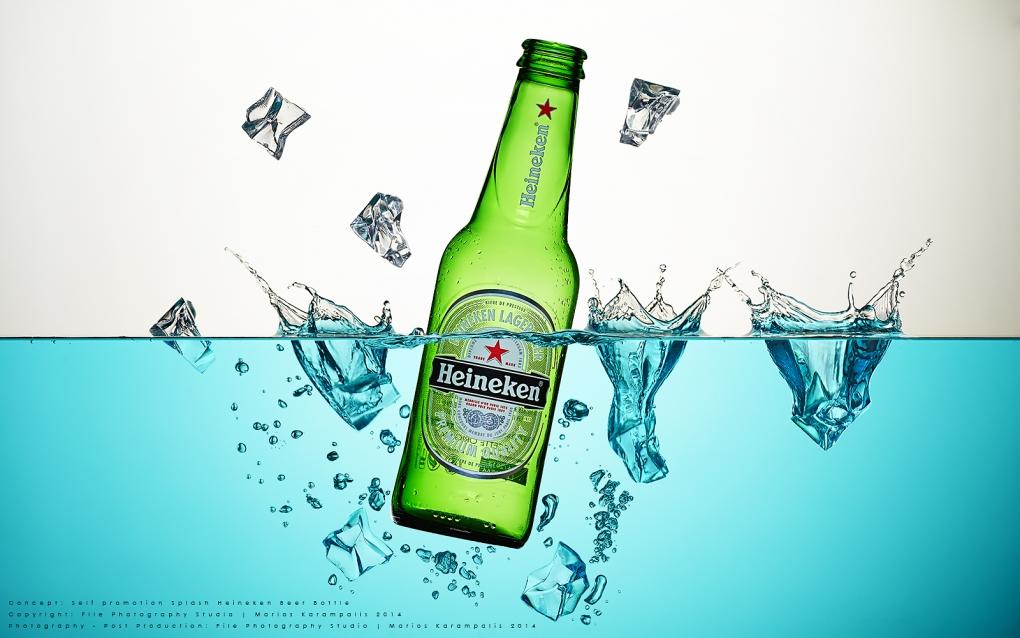 Beer with splash by Marios Karampalis
