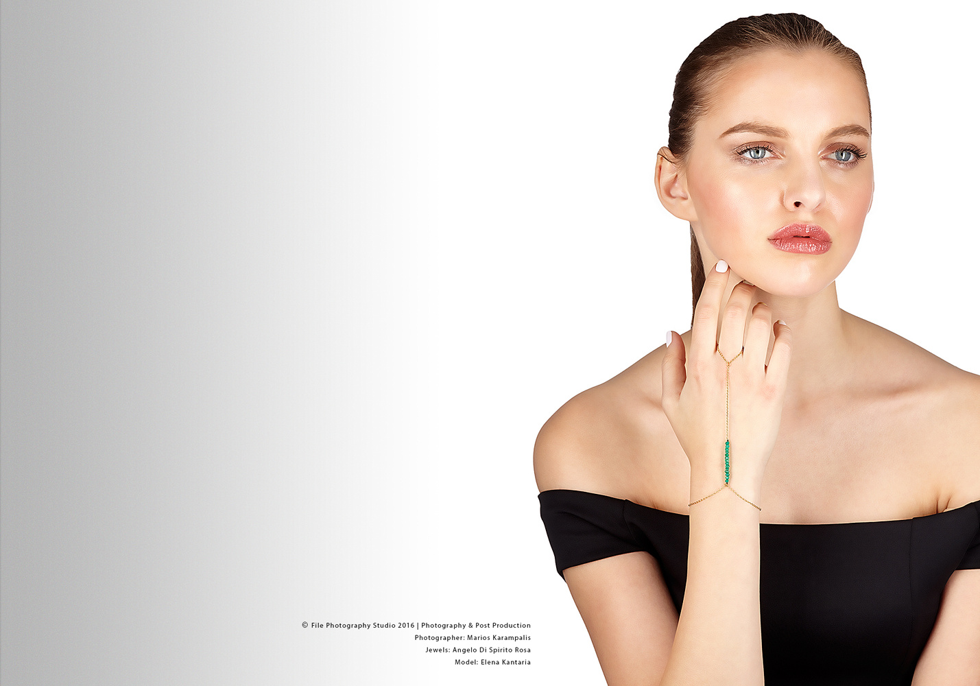 Untitled Jewellery with model II by Marios Karampalis