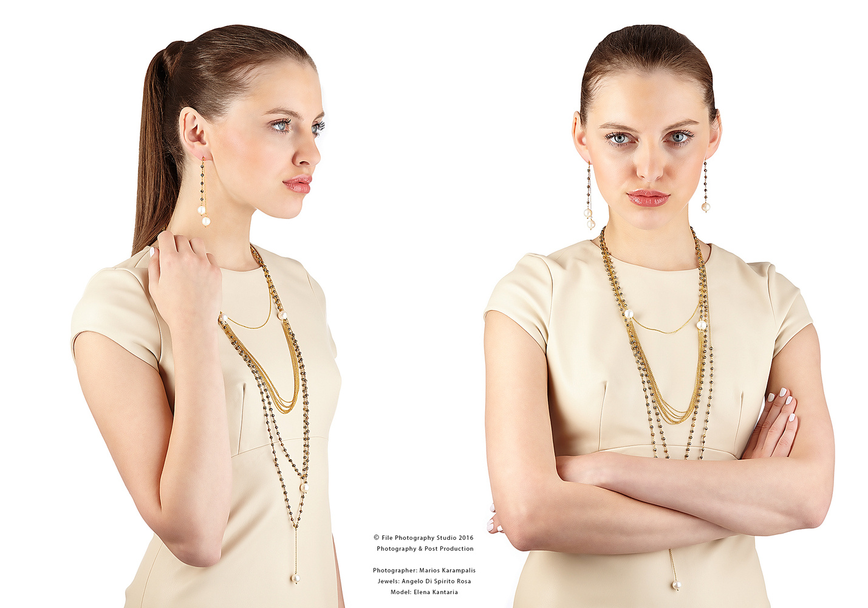 Jewellery with model I by Marios Karampalis