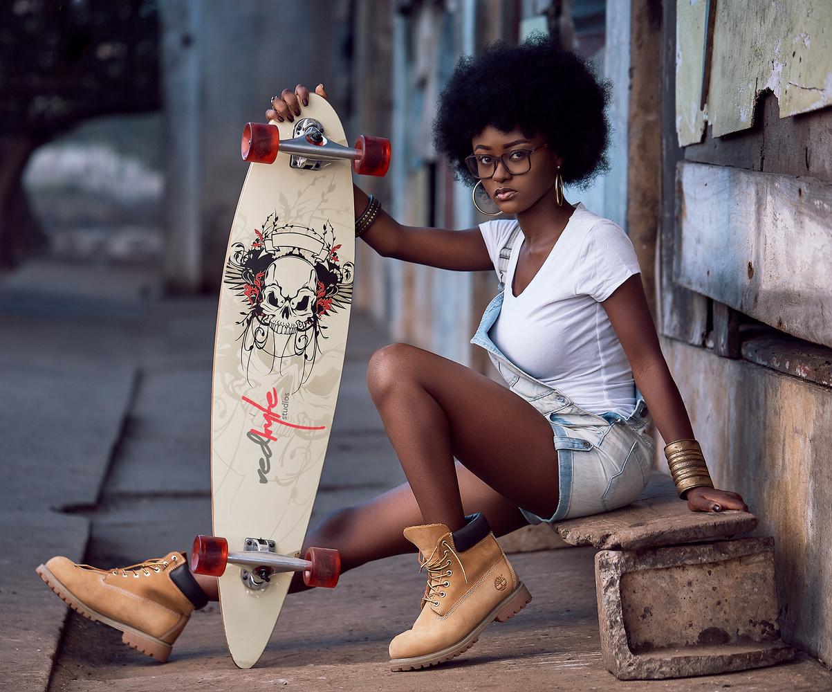 Skater Girl  by Benedict Eric Kwasi Baah
