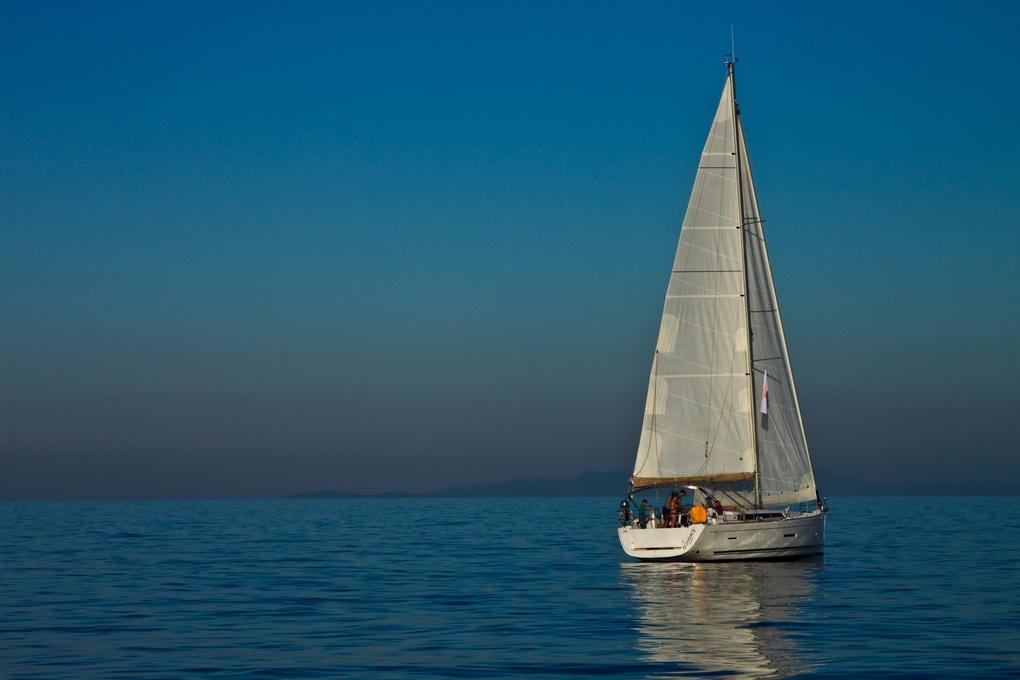 Sailing in Croatia by Oksana Kachkan