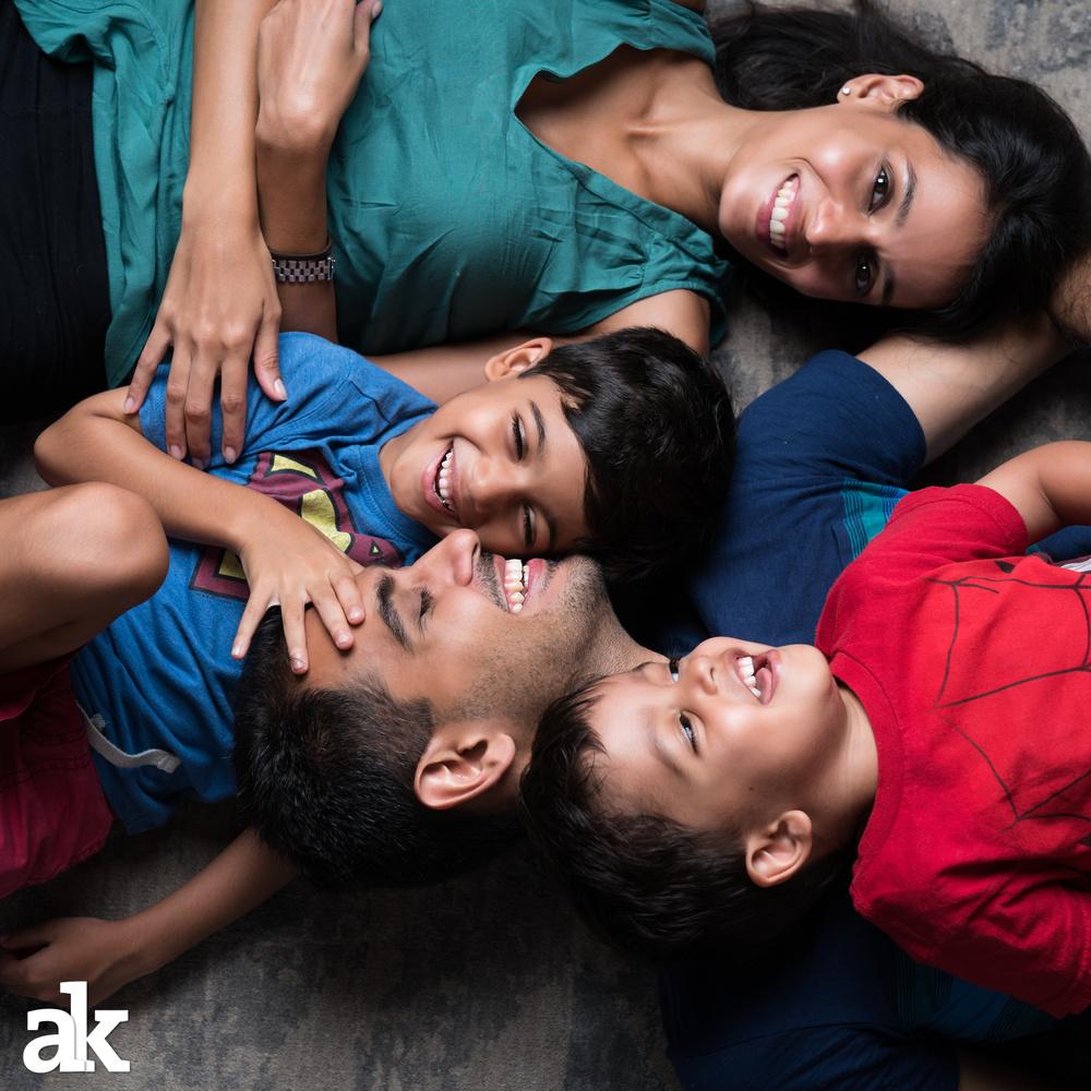 Candid Family Portrait by Aditya Kapoor