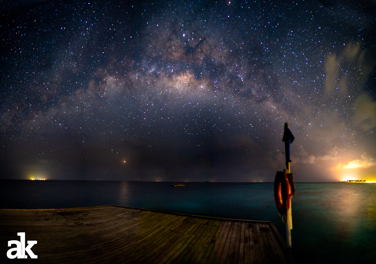 Milky Way over the Maldives by Aditya Kapoor