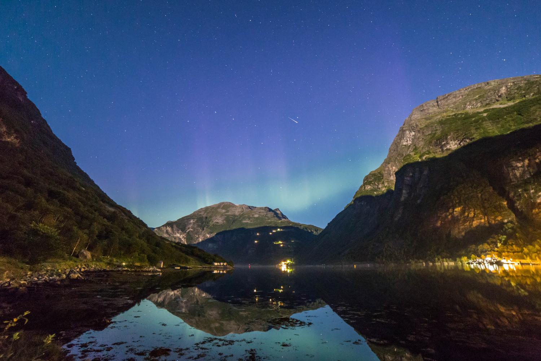 Geiranger fjord at night by SEAN SHEPHERD