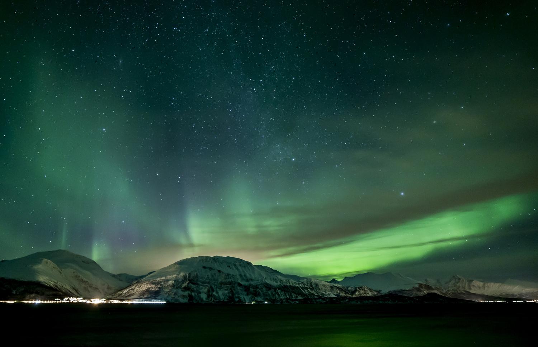 Aurora over the Lyngen alps by SEAN SHEPHERD