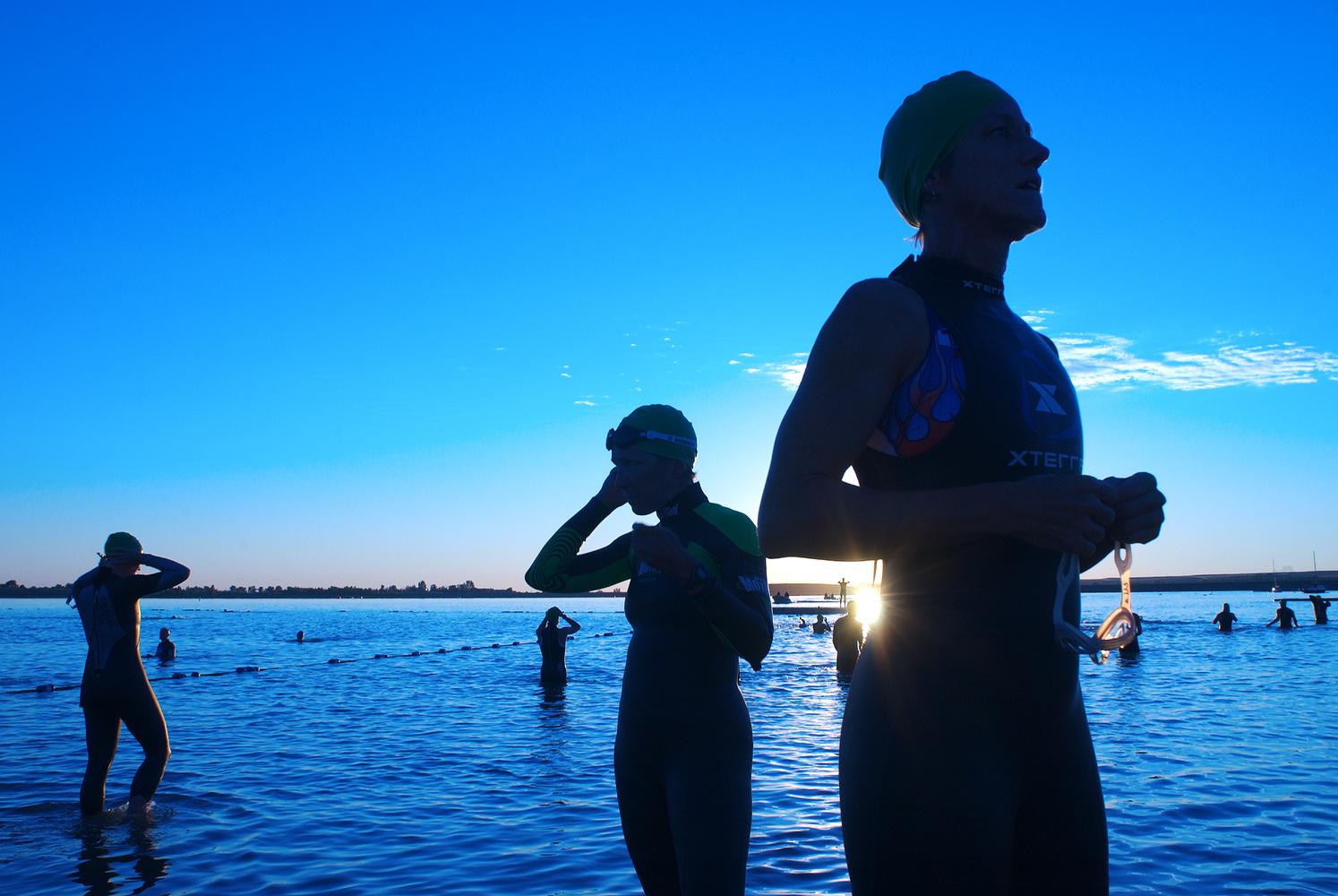 Triathlon morning by Jonathan Castner