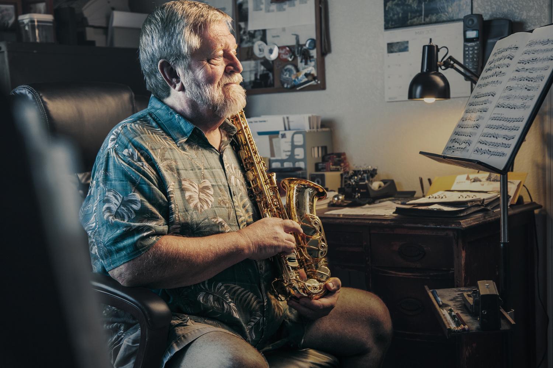 Arizona Sax Player by Travis Zielinski