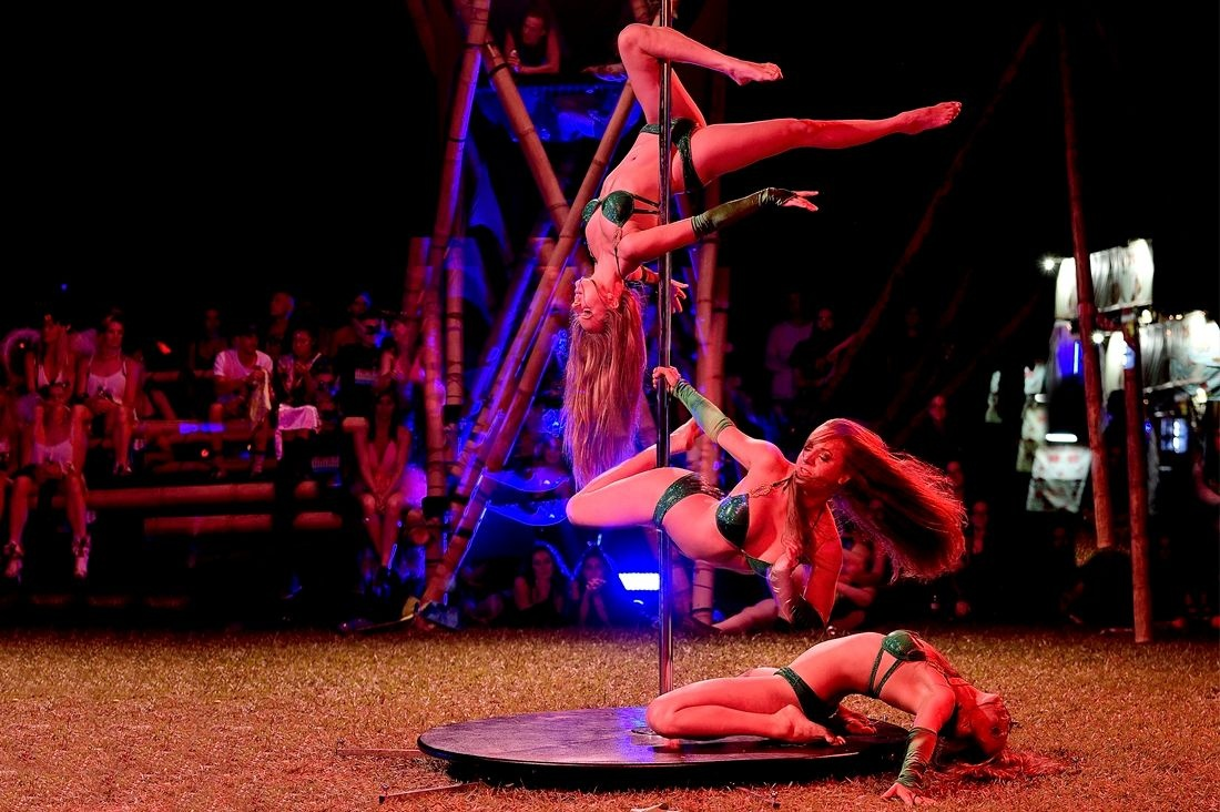 Kateriina Pole Dancing at Subsonic Festival by Orlando Sydney