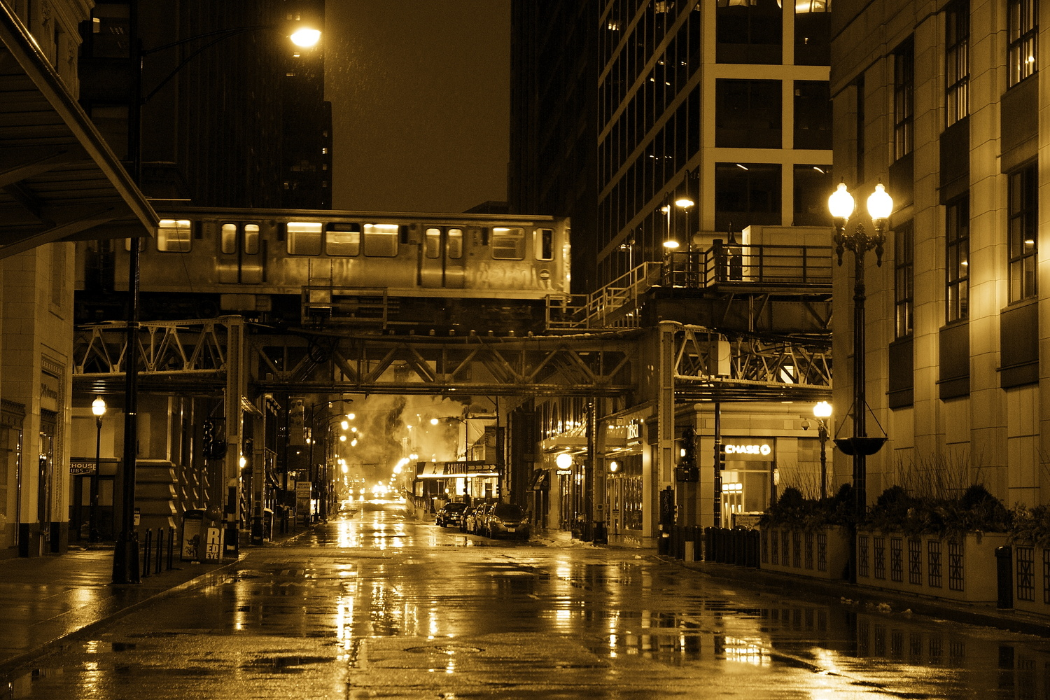 Night schedule In Chicago . by Tracy Webb