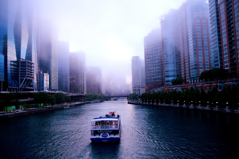 Heavy fog scene in Chicago . by Tracy Webb