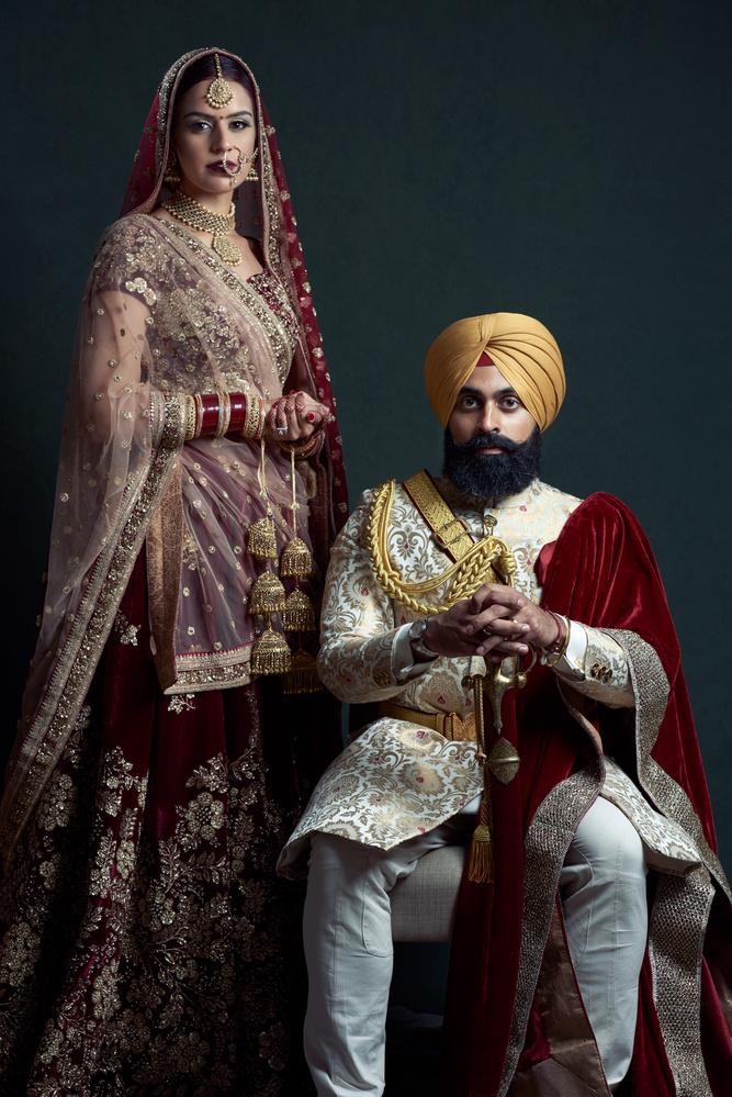 Sikh Bride and Groom by Dalbir Virdee