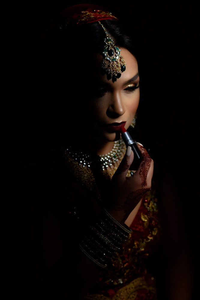 Bride Getting Ready by Dalbir Virdee