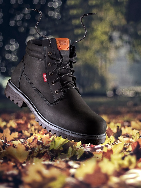 Levis Boot Autumn leaves  by Jonathan Raho