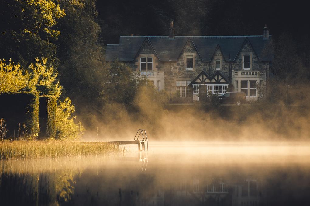 Morning mist on Loch Ard by Craig Bunyan