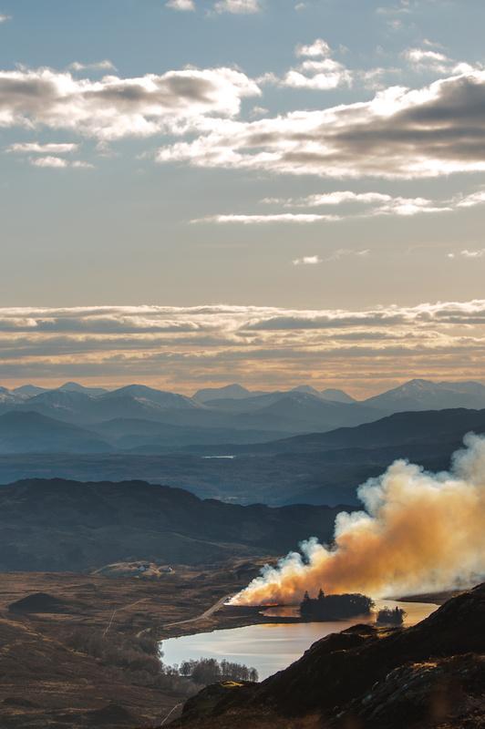Heather burning, Fort Augustus  by Craig Bunyan