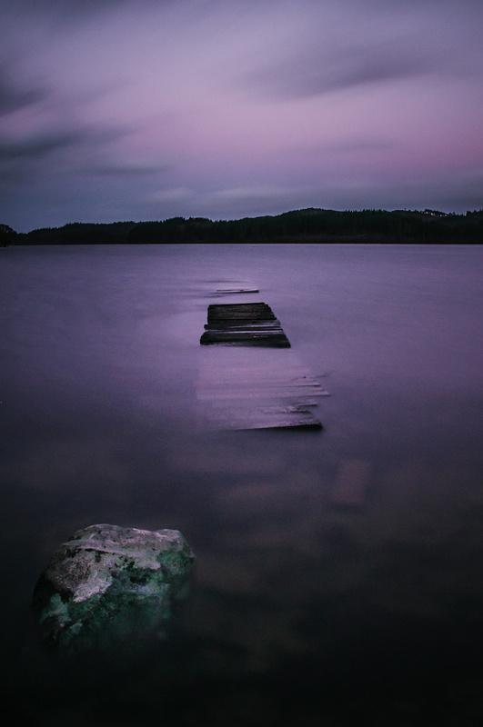 Midnight on Loch Ard by Craig Bunyan