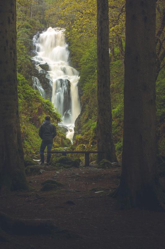 Waterfall in the rain by Craig Bunyan