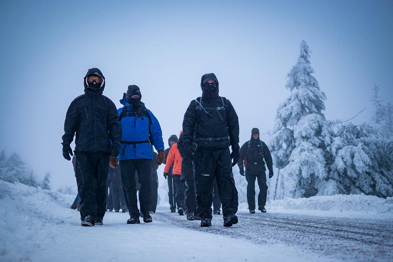 Blizzard Hike by Dennis Abel
