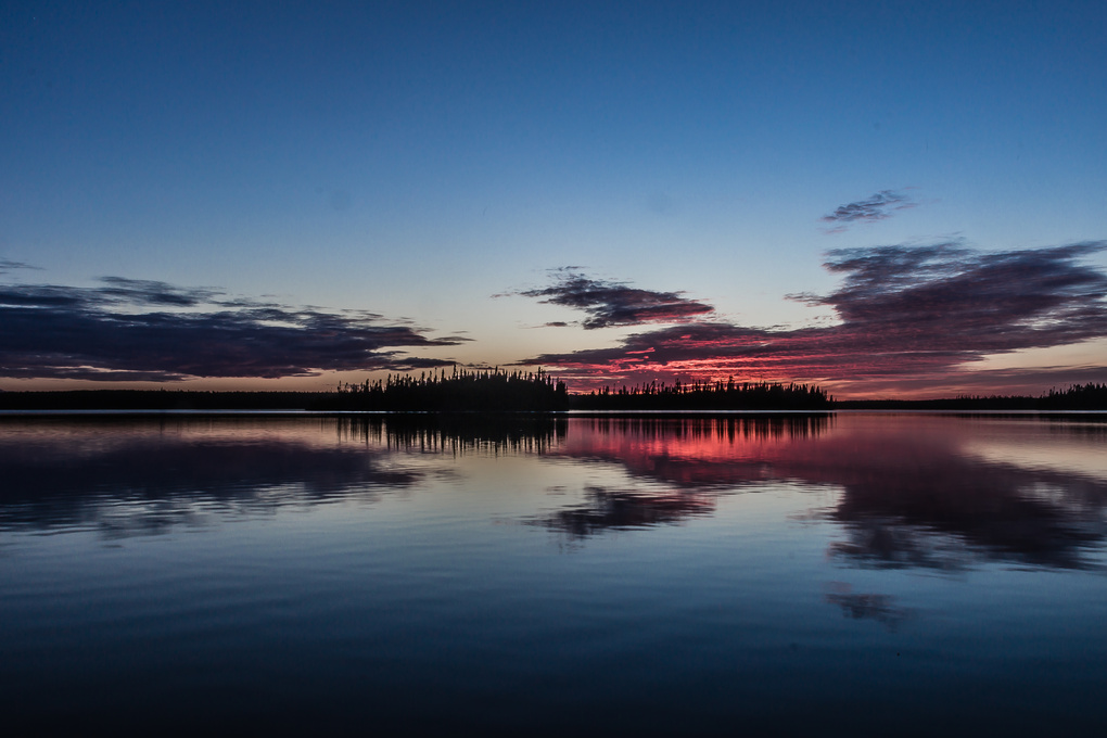 Sunset on lake #2 by Patrice Brien