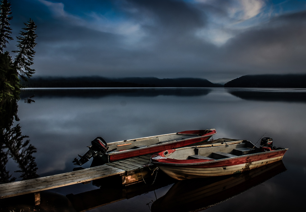 Boats at dock by Patrice Brien