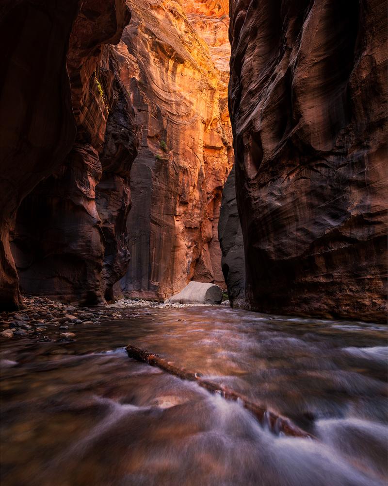 Zion Narrows Floating Rock by Dan McCloud