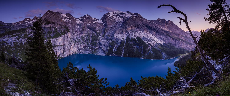 Swiss mountain lake by Roger Spring