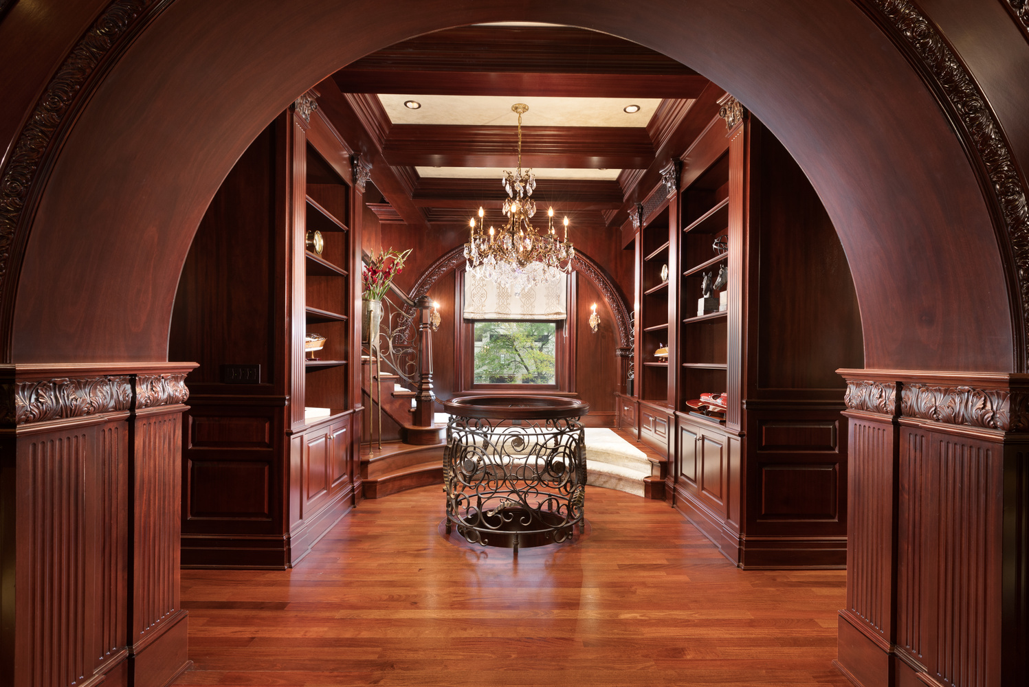 Second Level Library of a 22 Million Dollar Chicago Mansion by Michael Donovan
