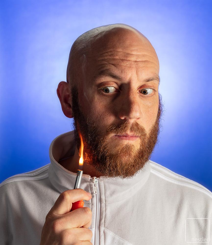 Fire Shaving by Peter Nestler