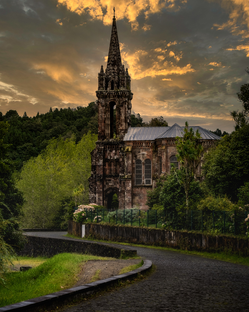 Gothic Church in the Azores by Pedro Pulido