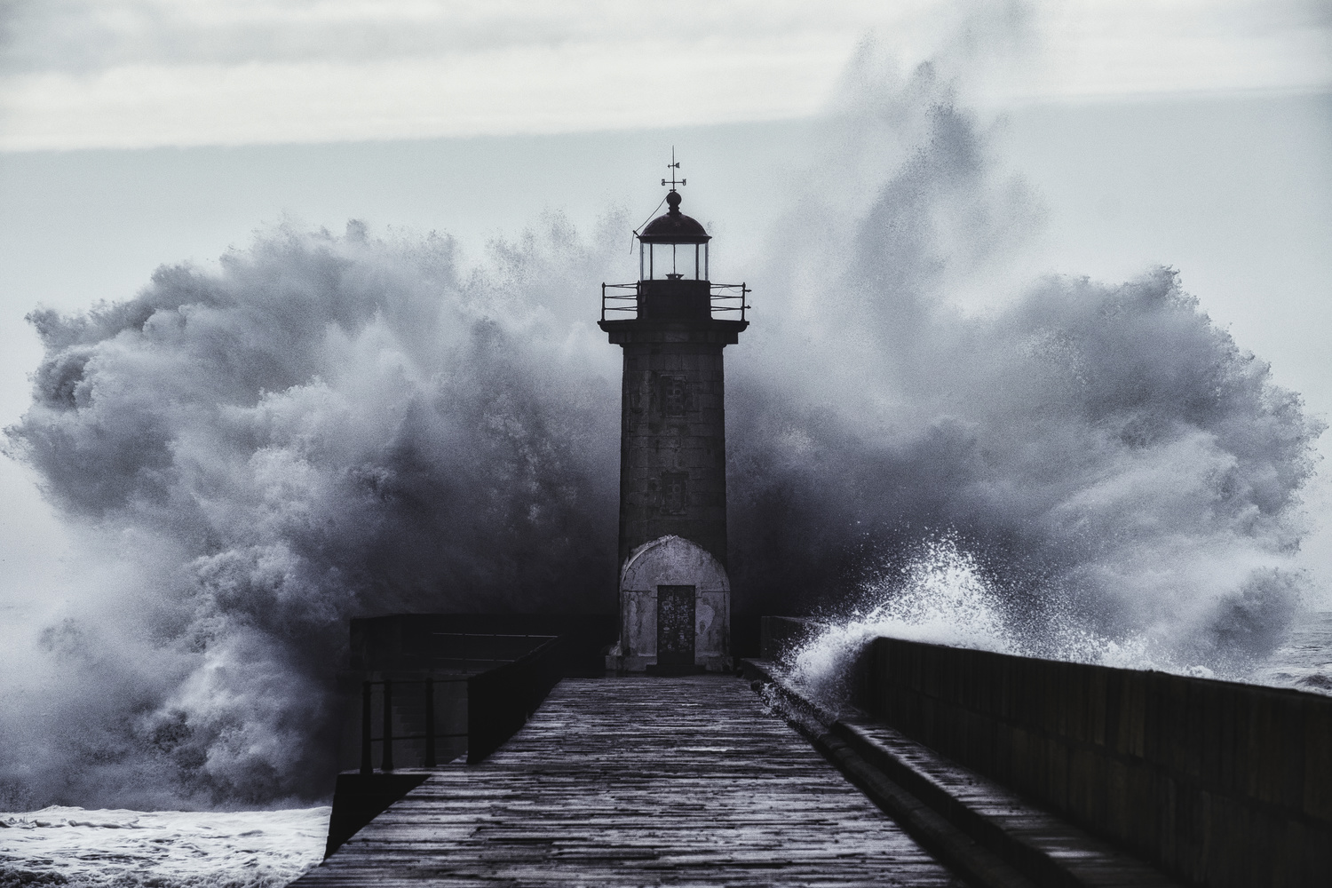 A Storm at the Lighthouse by Pedro Pulido