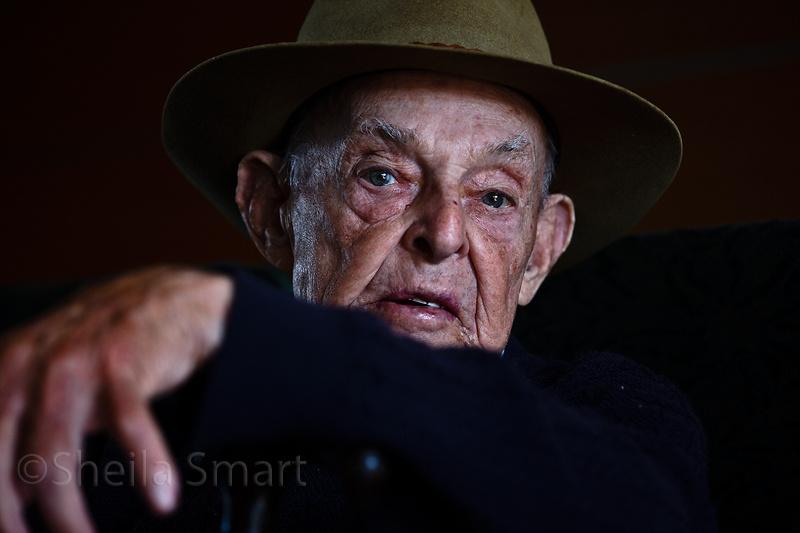 Veteran Aussie soldier on a ferry by Sheila Smart
