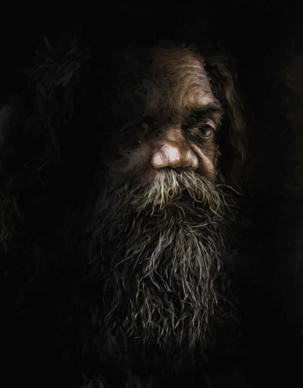 Cedric, aboriginal performer by Sheila Smart
