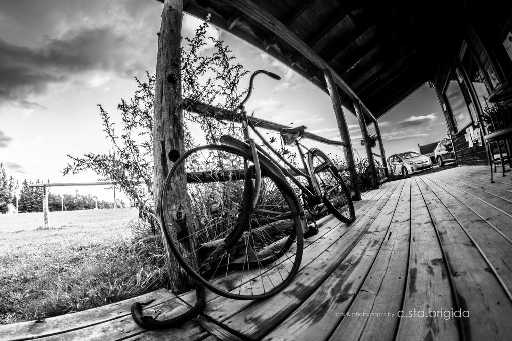"""""""...a bike with a broken wheel."""" by Chito L Sta Brigida"""