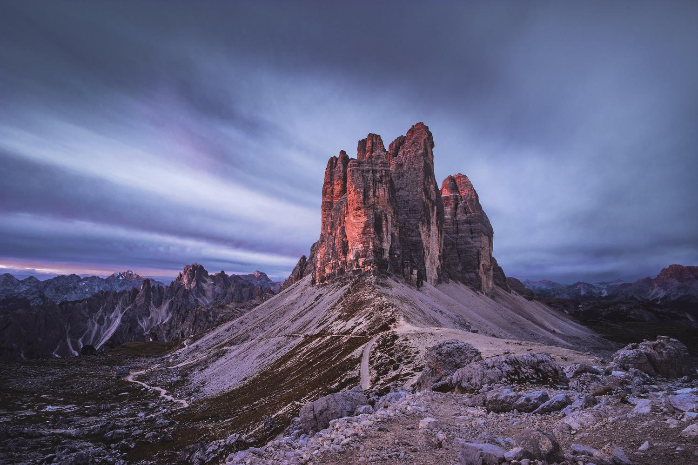 Dawn at Tre Cime by Lazar Dimitrov